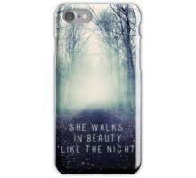 She Walks In Beauty iPhone Case/Skin