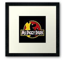 Miss Piggy Park Framed Print