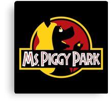Miss Piggy Park Canvas Print