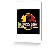 Miss Piggy Park Greeting Card