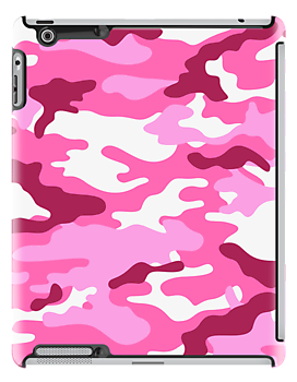 Camouflage iPad Case (Red) by MrFaulbaum
