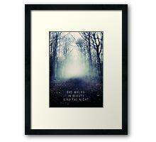 She Walks In Beauty Framed Print