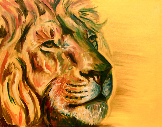 Lion by Elizabeth J. Nixon
