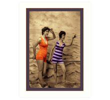 Swimming Fashion Art Print