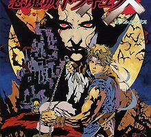 Castlevania Akumajo Dracula X Nintendo Super Famicom Japanese Box Art by augoosto