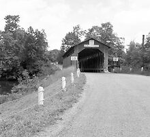 New England Covered Bridge by Henri Bersoux