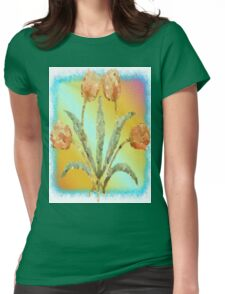 Colourful Tulips Womens Fitted T-Shirt