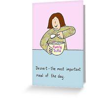 Dessert. Greeting Card
