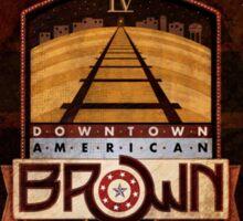 VINTAGE AMERICAN BROWN BEER. Sticker