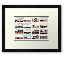 Flinders notes Framed Print