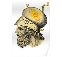 Steampunk Greek Helmet Poster
