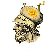Steampunk Greek Helmet Photographic Print