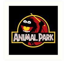 Animal Park Art Print