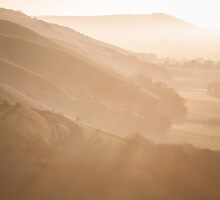 haze at the fulking escarpment by James Calvey