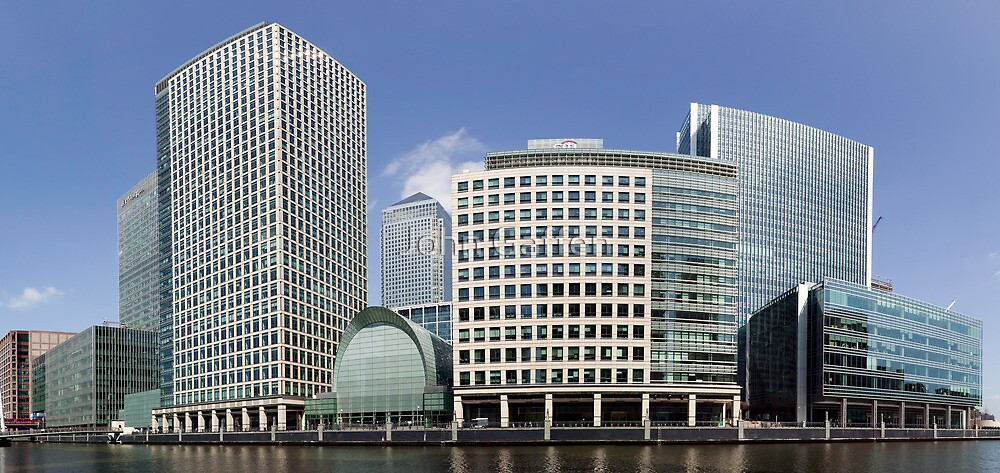 Canary Wharf Panorama by John Gaffen