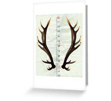 antlers measure Greeting Card