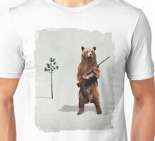 Bear with a shotgun Unisex T-Shirt