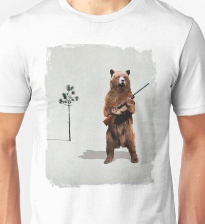 Bear with a shotgun Unisex T-Shirt