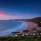 woolacombe beach at dusk by James Calvey