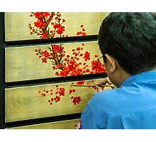Vietnamese Lacquer Painter Photographic Print