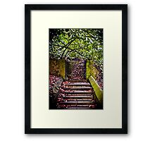 The Deans Steps Cardiff Wales Framed Print