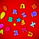 Letters on Red by mlphoto