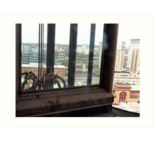 Top of the Providence Biltmore Glass Elevator Art Print