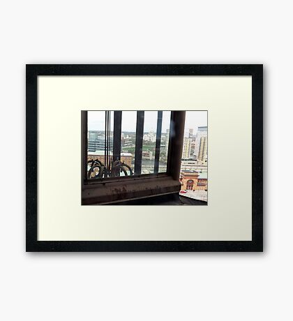 Top of the Providence Biltmore Glass Elevator Framed Print