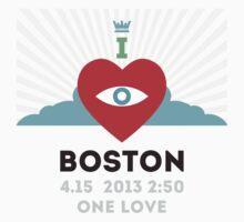 I LOVE BOSTON - 4.15 MARATHON HEALING SHIRT ONE LOVE by studioAnchorbal