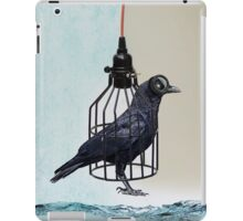 bird in the wire iPad Case/Skin