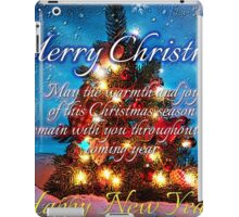 christmas scene 1 iPad Case/Skin