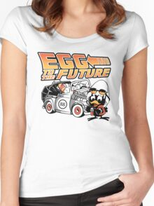 Egg To The Future Women's Fitted Scoop T-Shirt