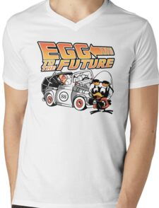 Egg To The Future Mens V-Neck T-Shirt