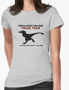 Cretaceous Track Womens Fitted T-Shirt