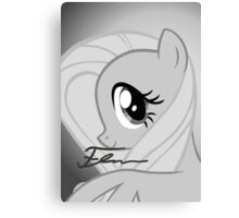 Fluttershy Signed Poster Canvas Print