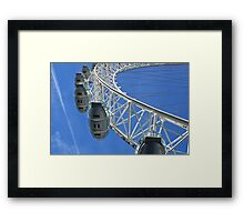 Going high with the London Eye in England Framed Print