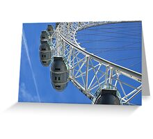 Going high with the London Eye in England Greeting Card