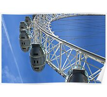 Going high with the London Eye in England Poster