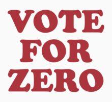 Vote for Zero by Zero Dean