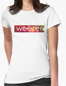 Floral Weezer Womens Fitted T-Shirt