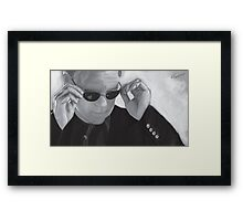 Horatio Caine / David Caruso B&W Framed Print