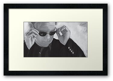 Horatio Caine / David Caruso B&W by Richard Eijkenbroek