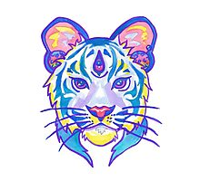Clairvoyant Pastel Tiger Photographic Print
