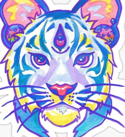 Clairvoyant Pastel Tiger Sticker