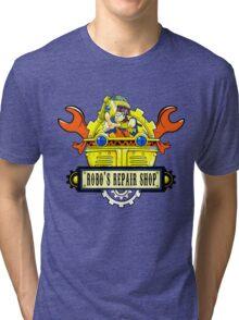 Robo Repair Shop Tri-blend T-Shirt