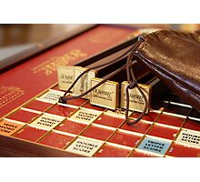 Lost for Words - Scrabble - Mike Hope Photographic Print