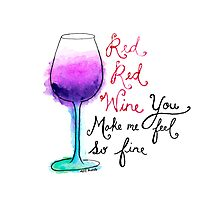 Red Red Wine Photographic Print
