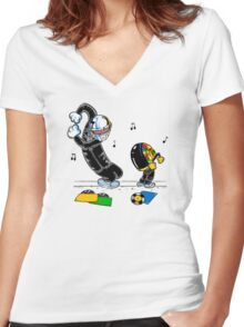 Let's be daft Women's Fitted V-Neck T-Shirt