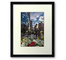 Outside the Metro Paris Framed Print