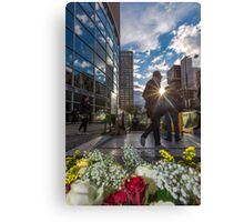 Outside the Metro Paris Canvas Print